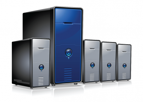 several servers with linux operating system