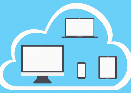 visual representation of the cloud between different devices