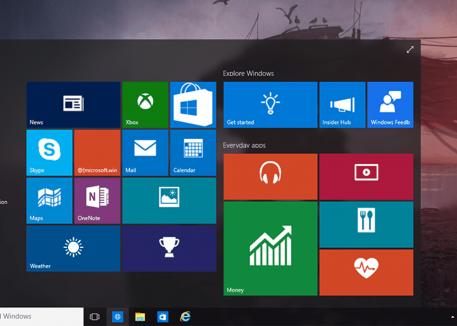 pc screen displaying windows search tab