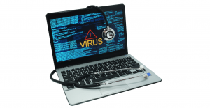 mac laptop with virus