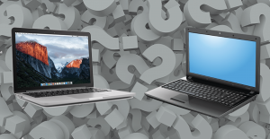 mac and pc laptops