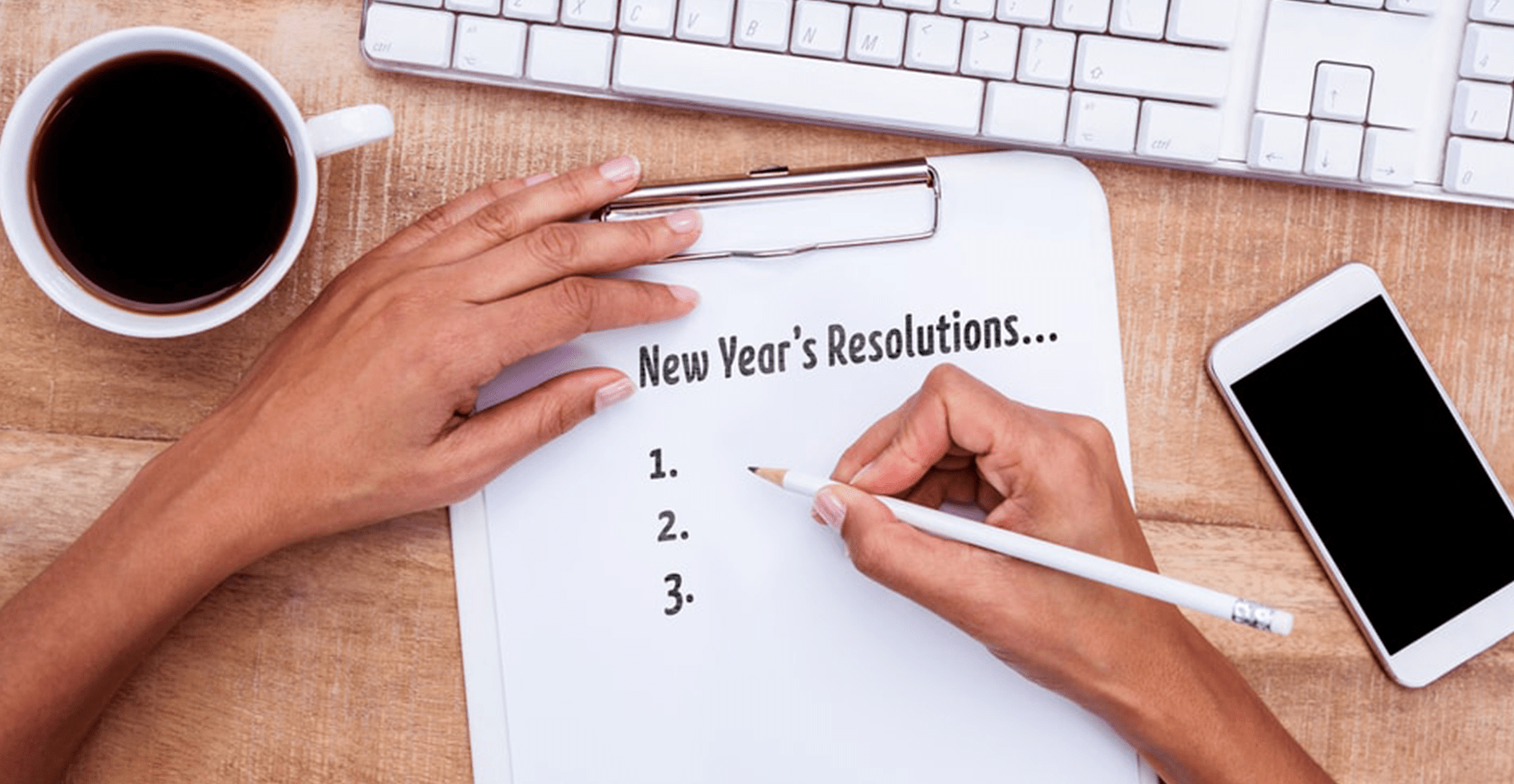 person writing resolutions