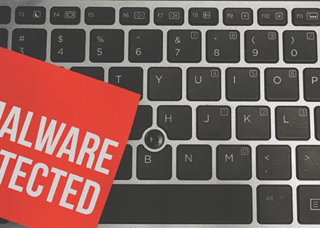 malware on laptop