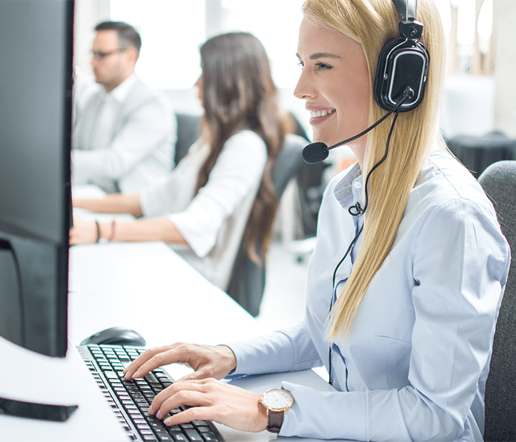 remote call center agent