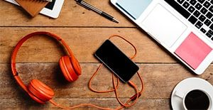 headphones tech accessories to boost productivity